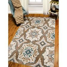 andover mills natural cerulean blue tan area rug 20756