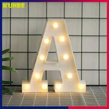 Đèn Led Chữ Cái Loại Lớn 22cm Trang Trí Tiệc Cưới, Sinh Nhật, Nhà Cửa KUNBE  -