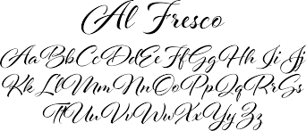 Fresco sans font