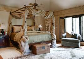 Astonishing Sheer Drapes For Canopy Beds with Dramatic Black Shutters