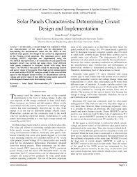 Solar Panel Circuit Design Pdf Solar Panels Characteristic Determining Circuit Design