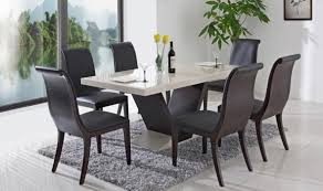 dining room furniture designs. Attractive Six Wooden Chairs Surrounding Modern Dining Table To Decorate Room Furniture Designs H