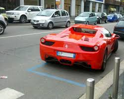 Upgrade the look of your ferrari! File 13 Italy Italian Supercar Exotic Convertibles Ferrari 458 Italia Spider In Milan Rear Views Of Supercars Red Coupes Mode Jpg Wikimedia Commons