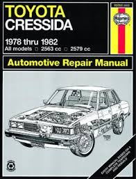Toyota Cressida (1978 - 1982) Haynes Repair Manual (USA) | Haynes ...