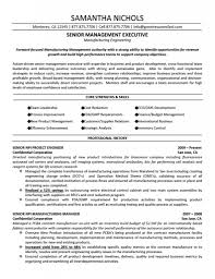 Sample Resume For Project Manager In Manufacturing Senior Executive Manufacturing Resumes Free Resume Templates 1