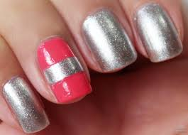 beauty with the-beautifool ♥: Recreated Manicure: Coral & Silver ...
