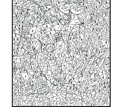 Color By Number Pages For Adults Coloring By Numbers Free Color By