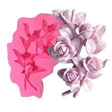 <b>3D Rose Flower</b> Clustered Liquid Silicone Mold Handmake <b>Soap</b> ...
