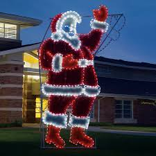 Outdoor Christmas Decoration Shop Holiday Lighting Specialists 17 Ft Animated Waving Santa