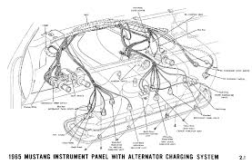 mustang wiring diagrams average joe restoration 1965a 1965 mustang instrument panel alternator