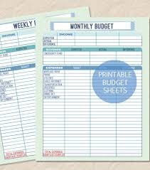 Weekly Budget Worksheet Printable The Best Worksheets Image ...