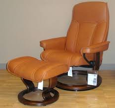 recliner chair with ottoman senator brandy leather recliner and ottoman outdoor patio reclining sling chair with