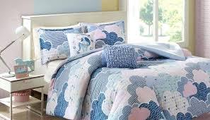 twin bedspread lovely unicorn bedding bedroom decor unique cloud 9 set blue xl and purple reviews blue twin xl bedding orange
