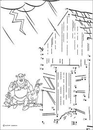 Small Picture Dot to dot shrek coloring page coloring pages Hellokidscom
