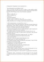 Sample Undergraduate Resume Resume And Template Te Format Sample Essay Free Examples