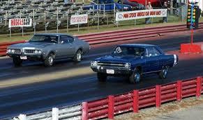 pure stock muscle car drag race mid michigan motorplex stanton
