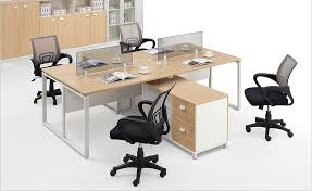 office desk workstation. 4 Person Office Desk With Partition For People Workstation