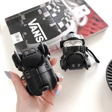 Vỏ ốp Black silicon hình Batman bảo vệ hộp sạc tai nghe AirPods Case Airpods  1 Airpods 2 Cool Apple AirPod Cover