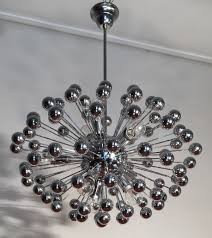 chrome multisphere sputnik chandelier italy 1960s