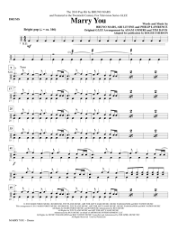 Download Digital Sheet Music Of Bruno Mars For Drums