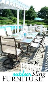 patio painting patio furniture ideas how to repaint paint outdoor with sling seating furnit