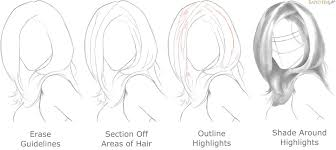how to shadow line and shade hair
