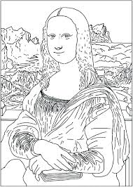 Mona Lisa Coloring Page Printable Coloring Page Beautiful Coloring
