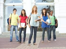 Group Of Teenage Students Standing Stock Photo Colourbox