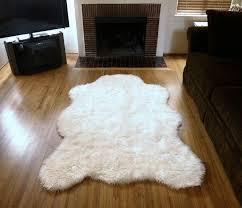 image of rug polar bear rug bear skin rug fireplace buffalo hide for intended