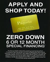 This article lists all of their affiliations as well as the easier credit cards that you can apply for which is very useful for those with a poorer credit score. Piercing Pagoda Credit Card South Mall