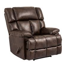 oversized leather recliner. Jude Brown Oversized Leather Power Recliner