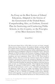 government essay an essay on the best system of liberal education  an essay on the best system of liberal education adapted to the inside