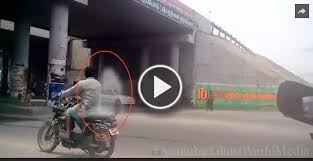 OMG!! Real Ghost Spirit Caught Back Seat Of The Bike Video | ENTERTAINMENT | SUPERHITVIDEOS ,