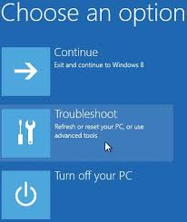 windows 8 boot from dvd choose an option troubleshoot