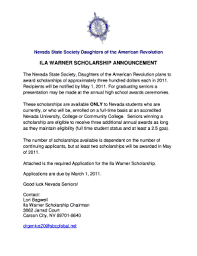 Include in your letter any pertinent details. Fillable Online Ila Warner Scholarship Announcement Fax Email Print Pdffiller