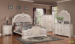 Bedroom Fancy Antique Traditional Distressed Antique White