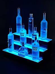 Bar Bottle Display Stand Armana Acrylic NEW 100 100 tire step LED Lighted Liquor Bottle 70
