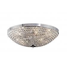 ava 6 light ceiling polished chrome
