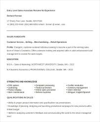 Entry Level Sales Associate Resumes Entry Level Sales Associate Resumes Magdalene Project Org
