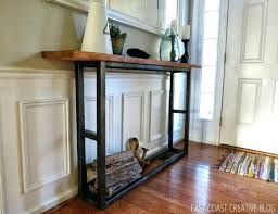 skinny entryway table. Distressed Entryway Table Console Skinny Wood . D