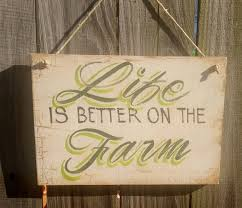 kitchen decor sign life is better on the farm antique wooden sign with saying cute saying on sign wall decor quote on sign country kitchen