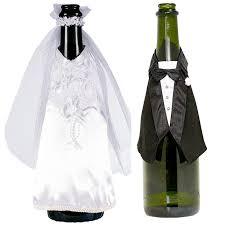 Braut Und Bräutigam Flaschendekoration