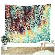 rug wall hanging wall hanging tapestry flower elephant print wall hanging tapestry bohemian room decor rug rug wall hanging