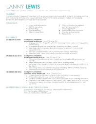 Caregiver Resume Template Interesting Child Care Assistant Resume Template Caregiver Resume Objective