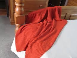 throw rug or afghan burnt orange