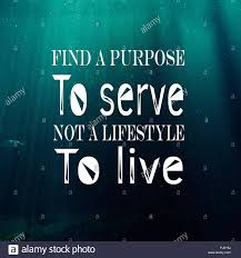 Inspirational Quotes Find A Purpose To Serve Not A Lifestyle To