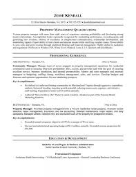 Resume For Property Manager Bestresume Com