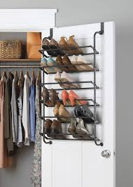 shoe storage rack mounted on door