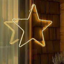 Led Fensterbild Schlauchsilhouette Stern Außen