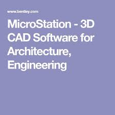 microstation 3d cad for architecture engineering